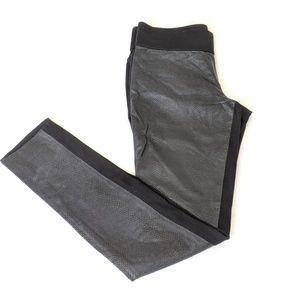 CLUB MONACO Tasha Faux Leather Snakeskin Black